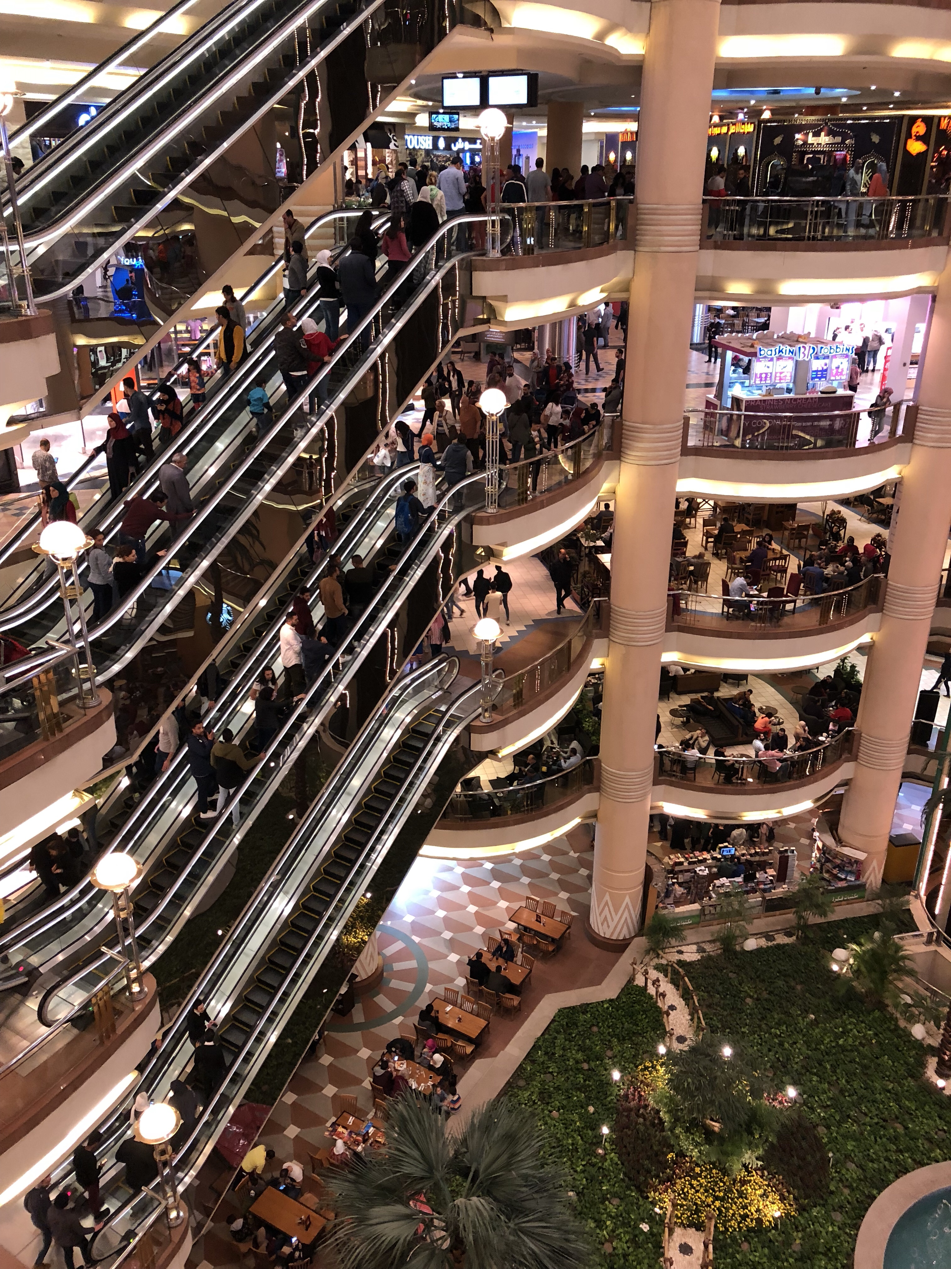 Movie night at the mall in Cairo!