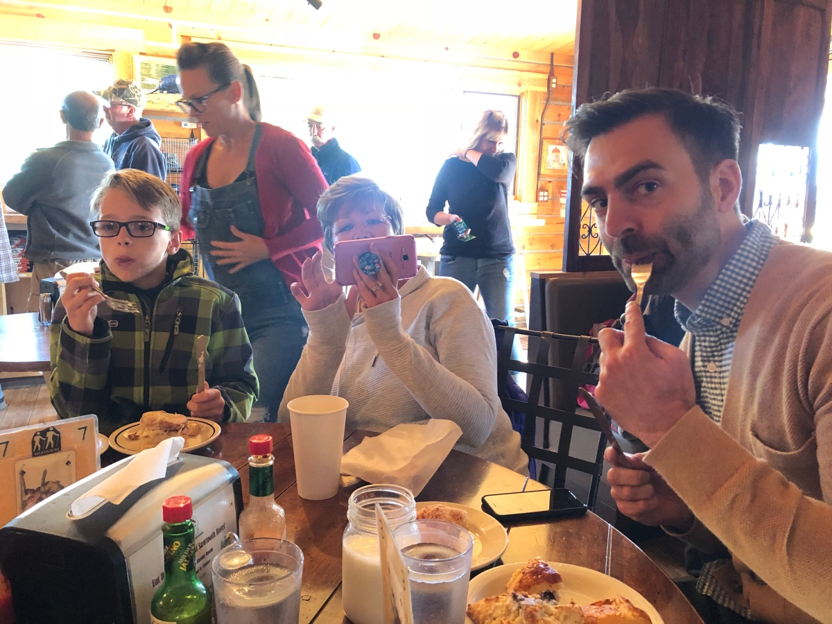 Family and food in Stanley, Idaho